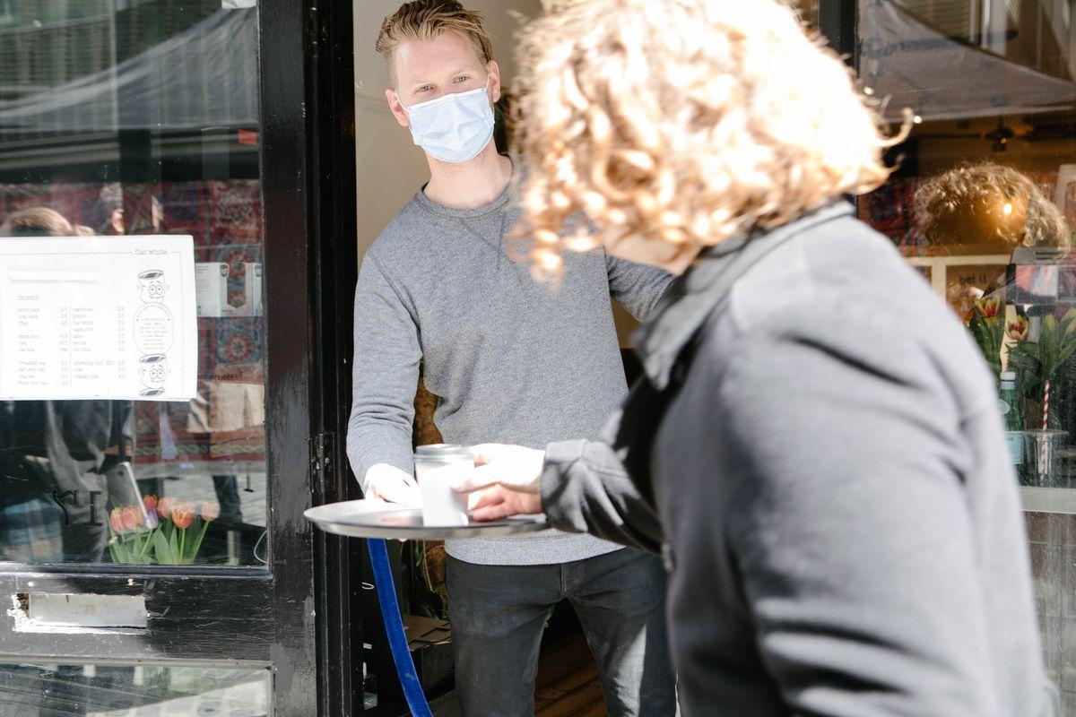 Flat White, a coffee shop on Berwick Street in Soho, has opened for takeaway