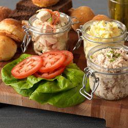 Tuna, Chicken and Egg Salad Sandwich Trio (Diamond Suites)