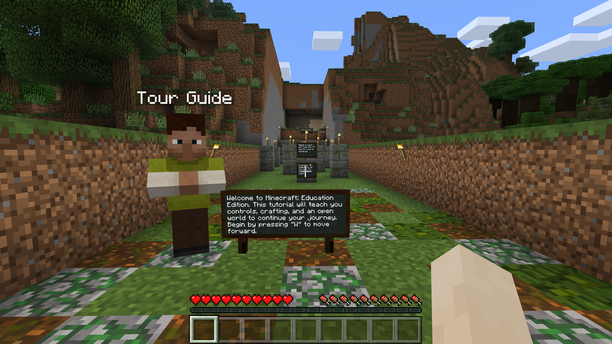 Minecraft Education is perfectly suited for this surreal back-to