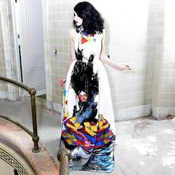 The David Choe artist collaboration dresses will be in stores soon. [First photo: via Facebook; rest, courtesy of Alice + Olivia]