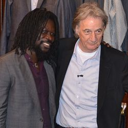 Sir Paul Smith poses for pics