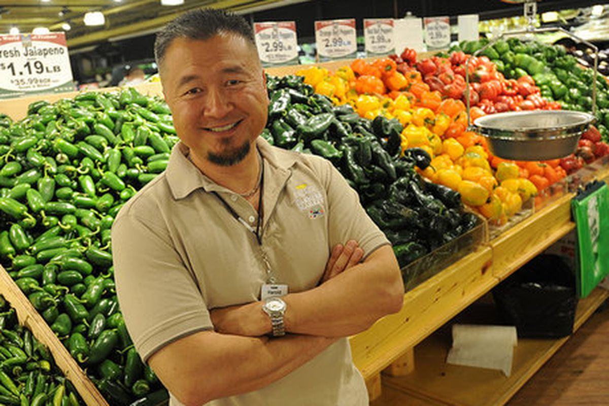 Harold Shinn at Buford Highway Farmers Market.