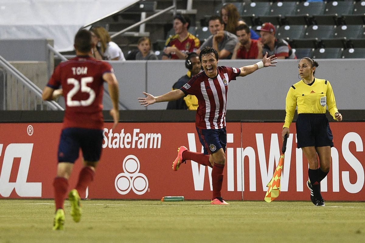 A victory over RSL is a very good reason to celebrate, much like Cubo is during here.