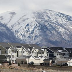 Newer homes are seen in Lehi on Wednesday, March 23, 2016. Salt Lake County's population of 1.1 million is almost double that of Utah County, the state's next most populous county. But Utah County could soon be gaining a larger number of people each year than its neighbor to the north thanks to a thriving tech industry and overall economic opportunity that bring in a steady stream of new residents.