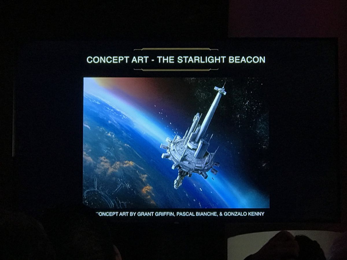 star wars: the high republic space station - the starlight beacon concept art by Grant Griffin, Pascal Bianche, and Gonzalo Kenny
