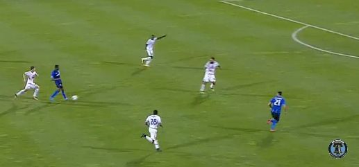 Matteo Mancuso left all alone on Montreal's fifth goal.
