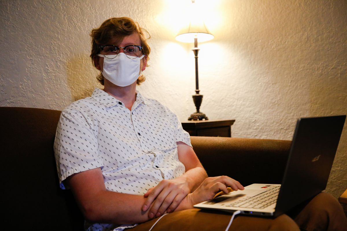 BYU senior Jordan Hamann poses for a portrait in the living room of his apartment in Provo on Monday, July 20, 2020.