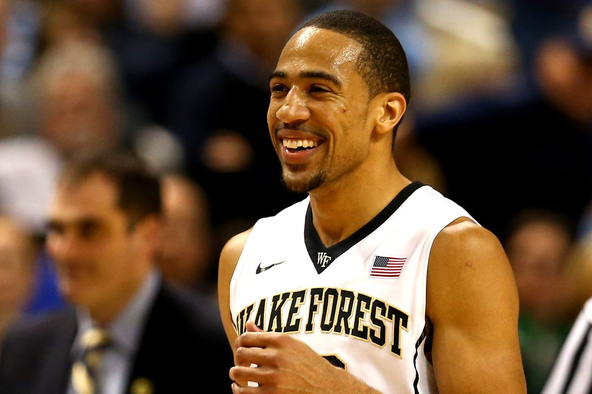 Coron Williams smiles during Wake Forest's 81-69 win over Notre Dame