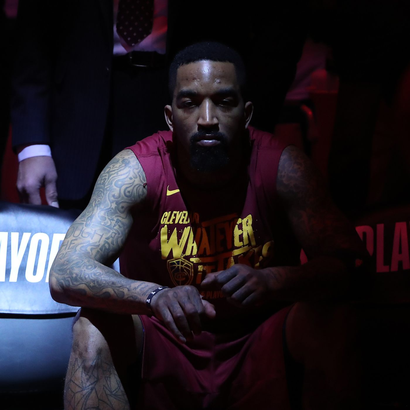 a9d43884939 Stiffs shootaround  J.R. Smith goes full  Nugglife in the NBA Finals ...