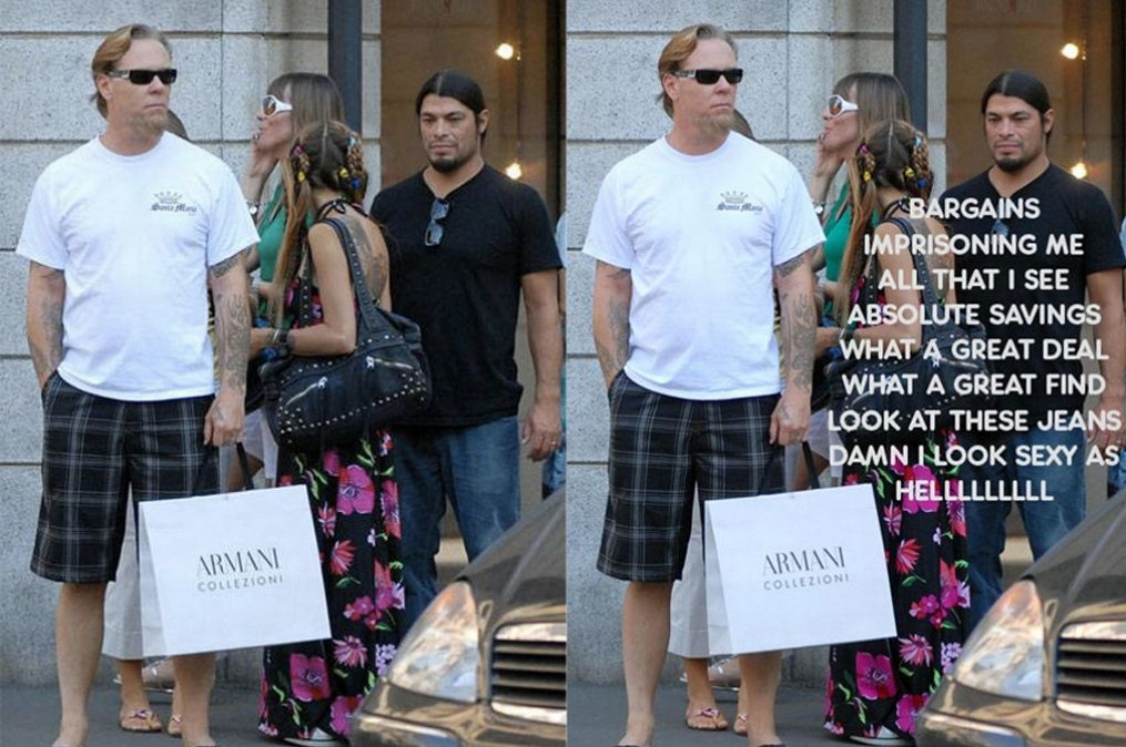 Metallica frontman James Hetfield, a spiritual supporter of Tidal who must resort to bargain hunting.