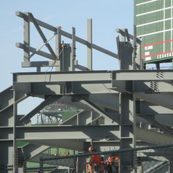 Right-field bleachers (note Cubs/Cardinals posted on the scoreboard) -