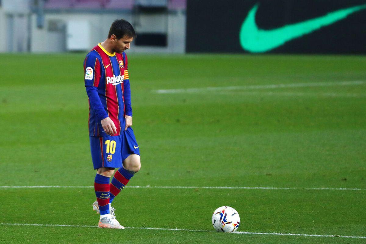 Barcelona's Lionel Messi during the Spanish La Liga match.