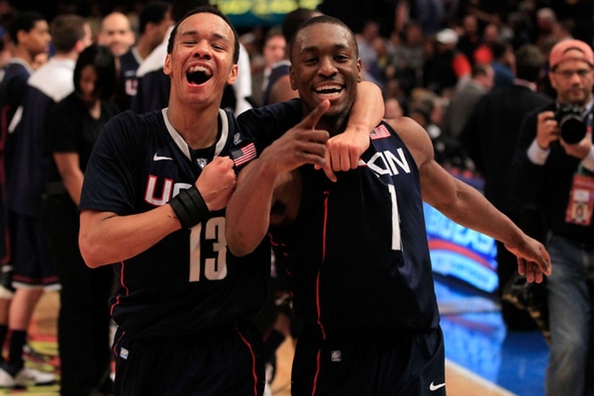 Can the Huskies win the Big East without Kemba Walker, pictured at right?