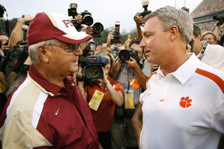 """Bobby & Tommy Bowden squared off in the """"Bowden Bowl"""" between Clemson & FSU (1999-2007)"""