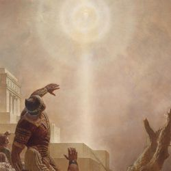 Jesus Christ appears after his Resurrection to people in the Americas in an Arnold Frieberg painting depicting a Book of Mormon scene. The LDS Church will produce a video scenes from the Book of Mormon in a multi-year project, the church announced on Thursday.
