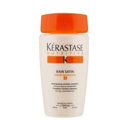 "<b>Kerastase</b> Nutritive Bain Satin Nutrition 2 Shampoo, <a href=""https://www.kerastase-usa.com/bain_satin_2/E0843800.html?dwvar_E0843800_size=250ML#q=nutritive+bain+satin&start=2"">$39</a> at Mizu"