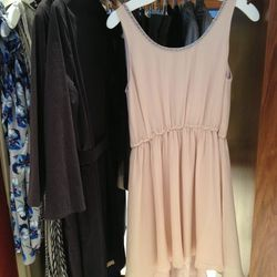 The petal pink dress is by Alice + Olivia called the Jayme Trapeze Dress.  Originally $400 marked down to $180 and then the 40% off on top of that.