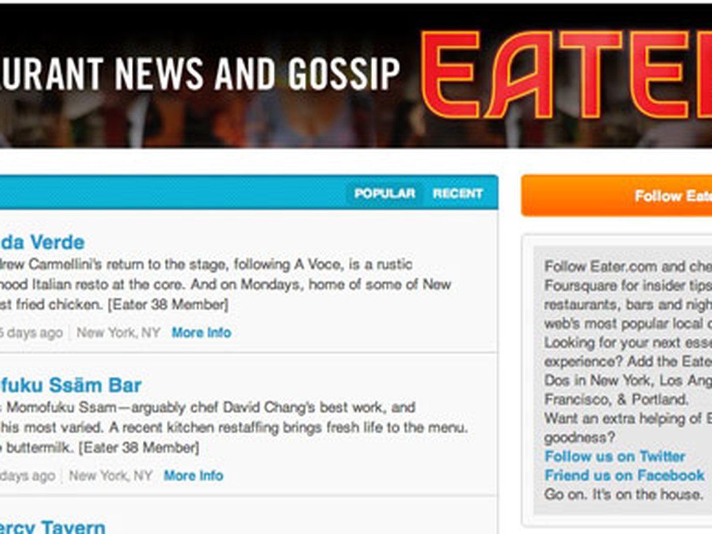 Follow Eater on Foursquare and Enjoy Endless Secret Intel