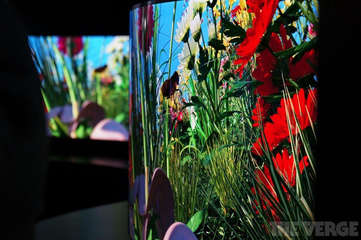 Gallery Photo: Panasonic's curved 4K OLED TV
