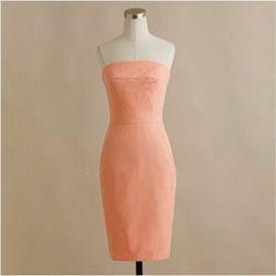 "<b>J.Crew</b> Ashley dress in cotton taffeta, $69 (on sale!) at <a href=""http://www.jcrew.com/womens_category/weddingsandparties/bridesmaidpartydresses/PRDOVR~38440/99102284441/ENE~1+2+3+22+4294967294+20~~~20+17+4294967097~90~~~~~~~/38440.jsp"">J.Crew</a>:"