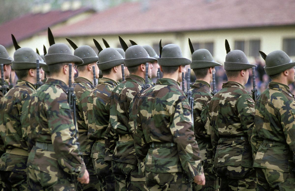 Recruits swearing-in-ceremony. meran. Italy