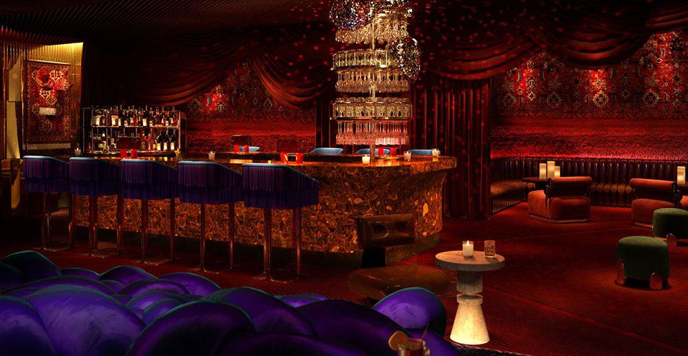 Virgin Hotels Las Vegas lounge rendering