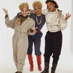 The hip-hop group Salt-n-Pepa circa 1990.