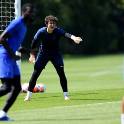 Kepa's hair adds at least two much-needed inches