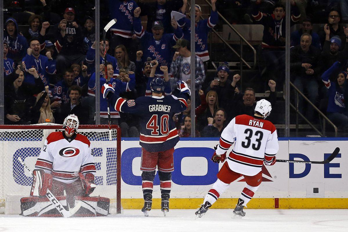 NHL: Carolina Hurricanes at New York Rangers