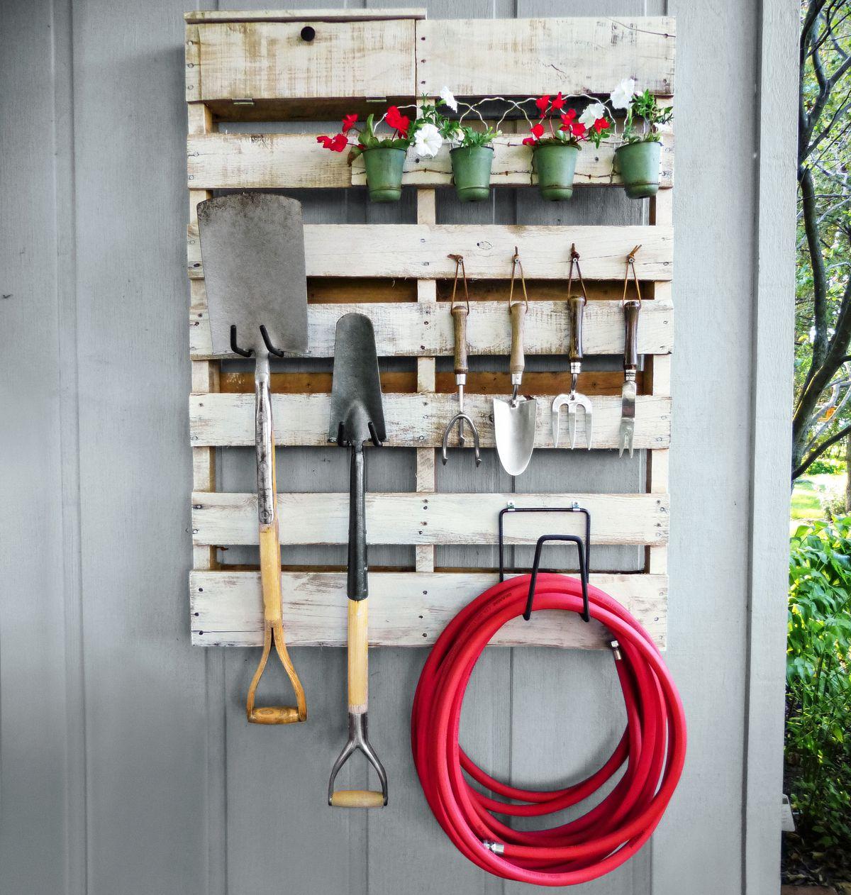 Repurposed Garden Shed Rack