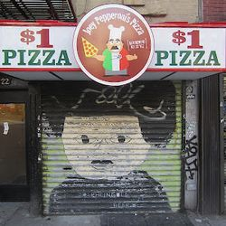 """Joey Pepperoni on First Ave. [<a href=""""http://evgrieve.com/2012/08/joey-pepperoni-bringing-his-1-pizza-to.html"""">EV Grieve</a>]"""