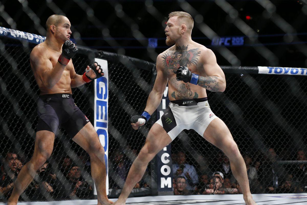 Eddie Alvarez's UFC 205 corner...