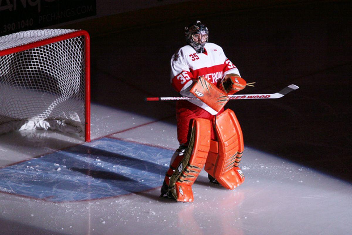 Marco Cousineau has been stellar this season for Allen. (Photo courtesy of the CHL Photos Blog.)