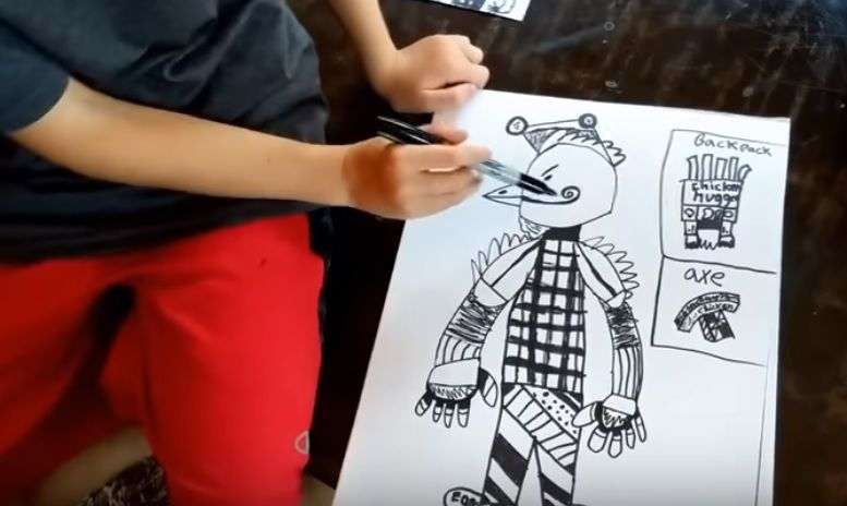 connor s chicken drawing - all fortnite skins drawing