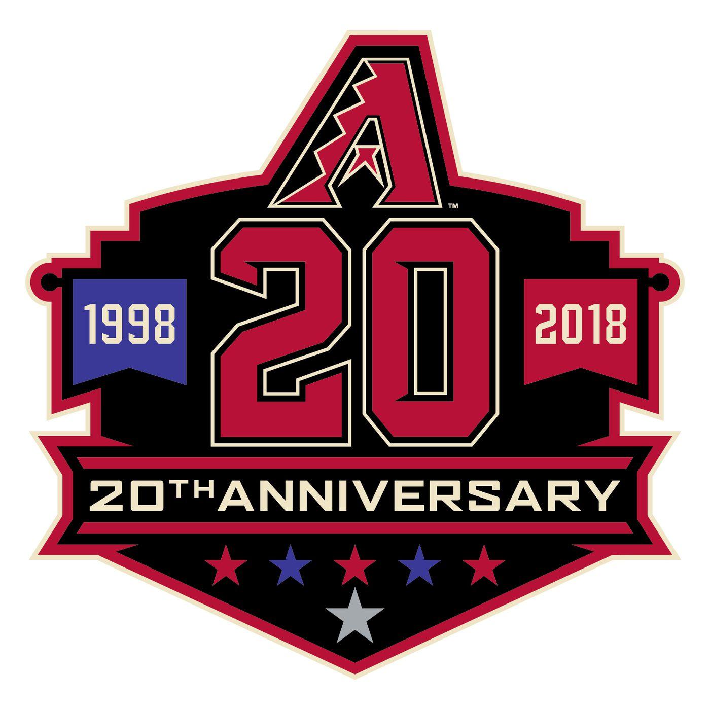 4b00238ca0f Arizona Diamondbacks reveal 20th anniversary patch and celebrations ...