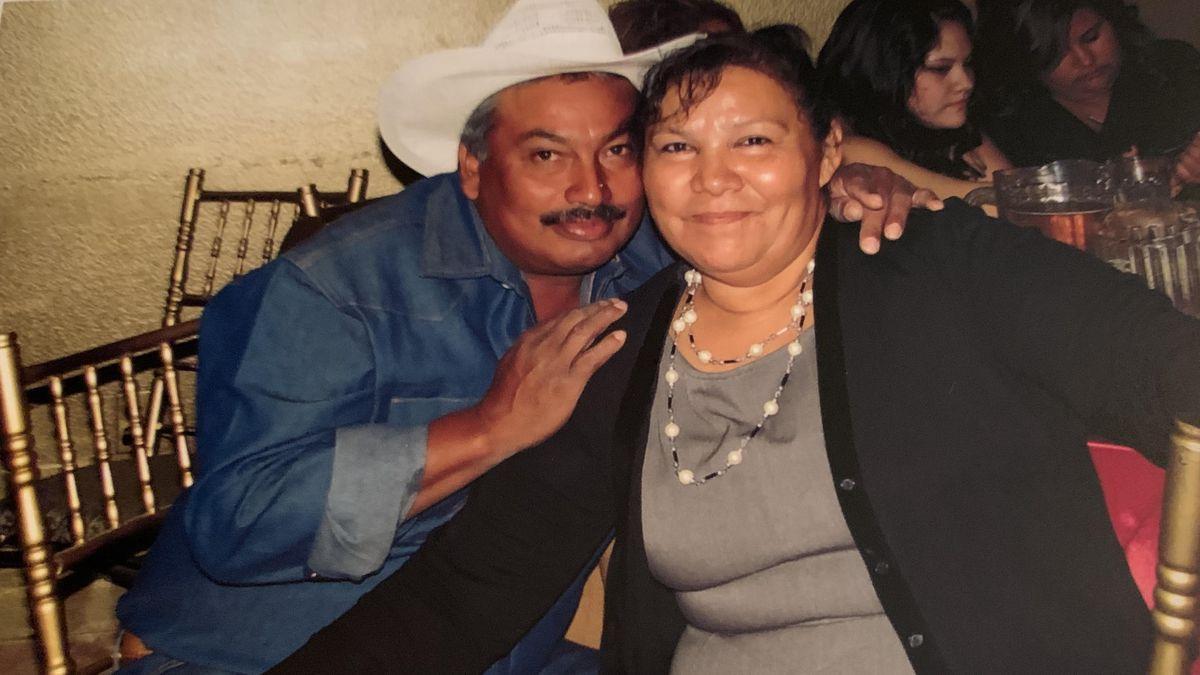 Norma Alicia Cruz with her husband Ismael Perez.