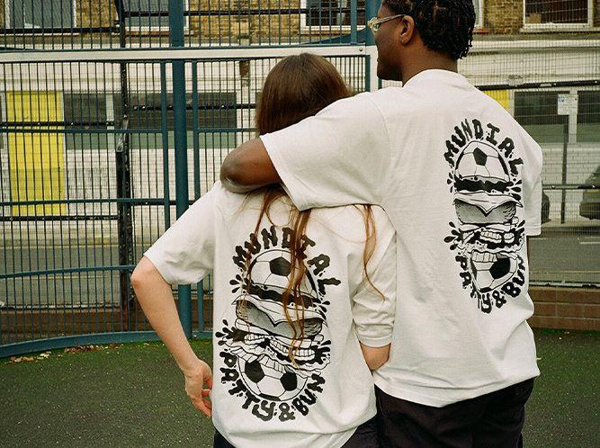 Patty & Bun x Mundial football magazine collab t-shirt