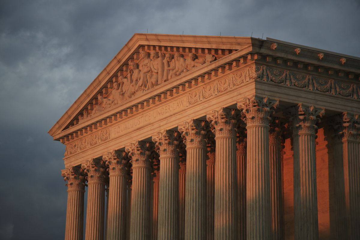 FILE - In this Oct. 4, 2018 file photo, the U.S. Supreme Court is seen at sunset in Washington. (AP Photo/Manuel Balce Ceneta)