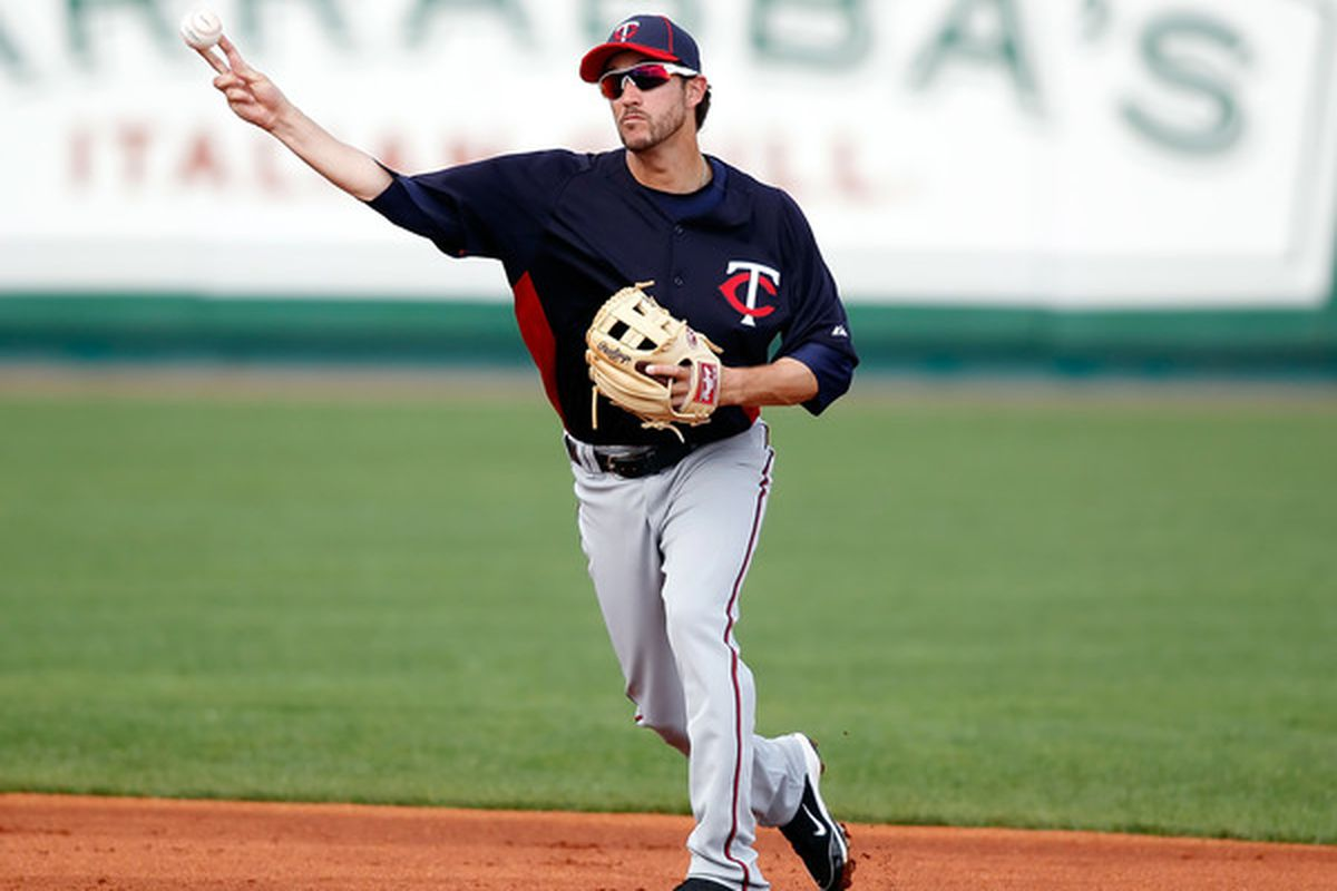 Shortstop Trevor Plouffe of the Minnesota Twins, March 2, 2011 (Photo by J. Meric/Getty Images)