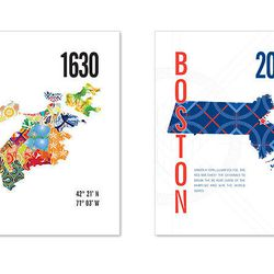 """Coming from South Boston, <a href=""""http://www.jhilldesign.com/"""">J.Hill Design</a> makes travel posters highlighting Boston and its sports teams."""