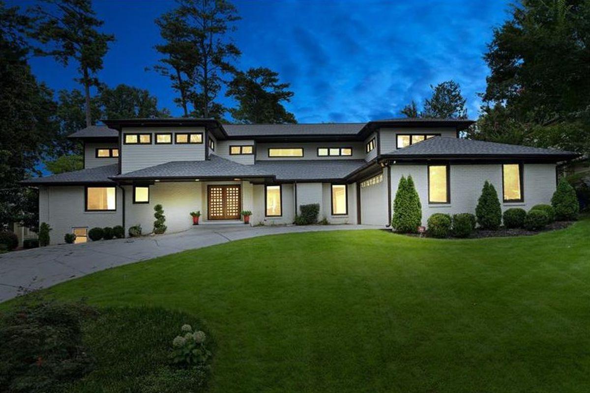 A newish Prairie-style home for sale in Buckhead.