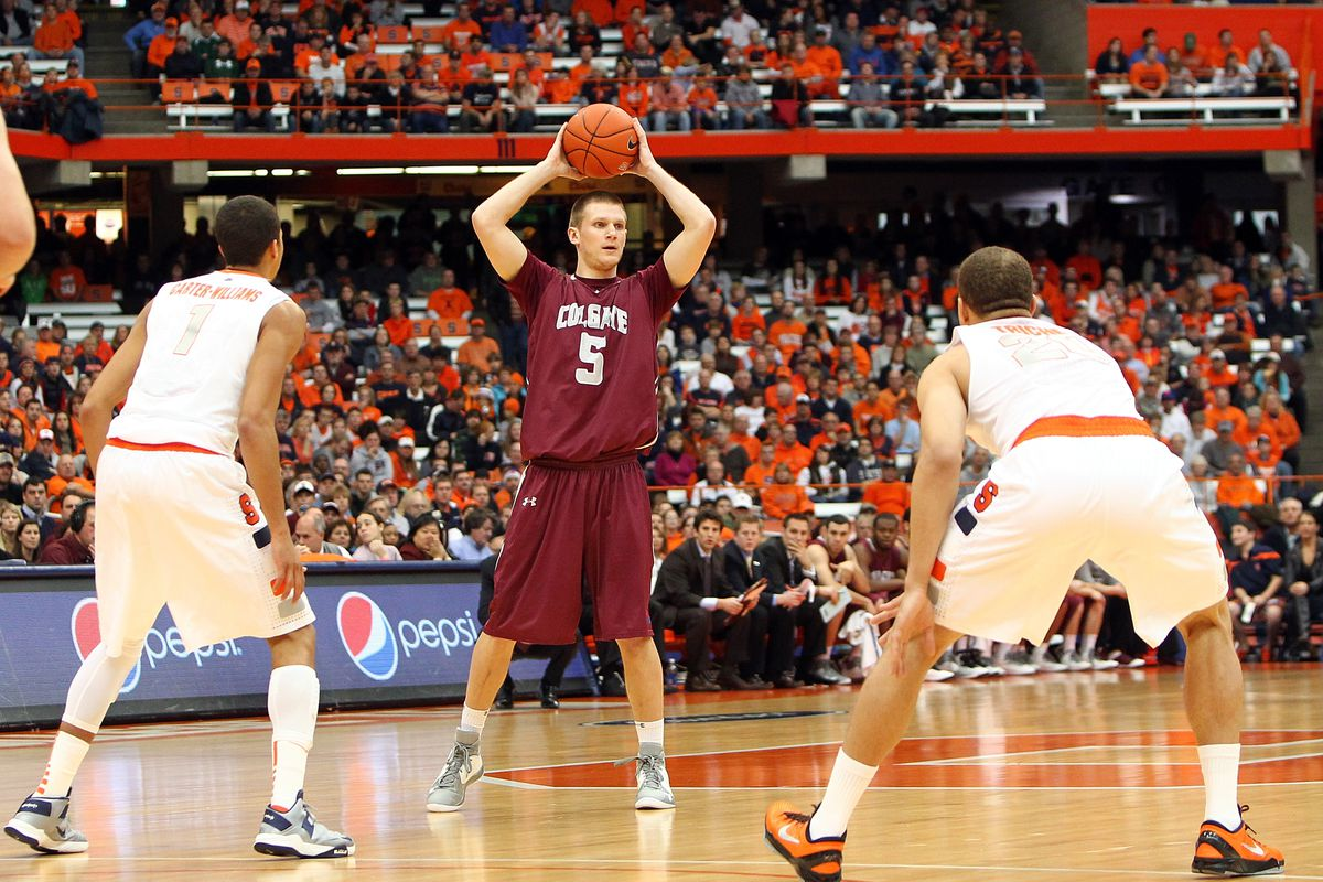 Pat Moore was a major contributor for Colgate before going out with a back injury.