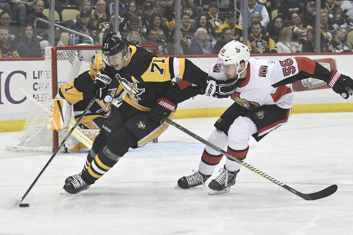 Senators clinch 30th place with 4 0 loss to penguins silver seven don wright usa today sports geenschuldenfo Image collections