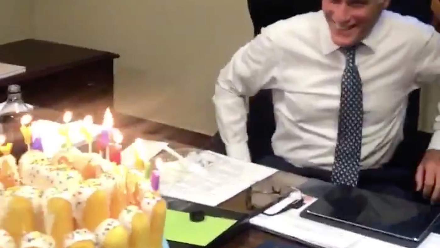 Mitt Romney's Birthday Cake Video Will For Sure Be The Weirdest 60 Seconds Of Your Day