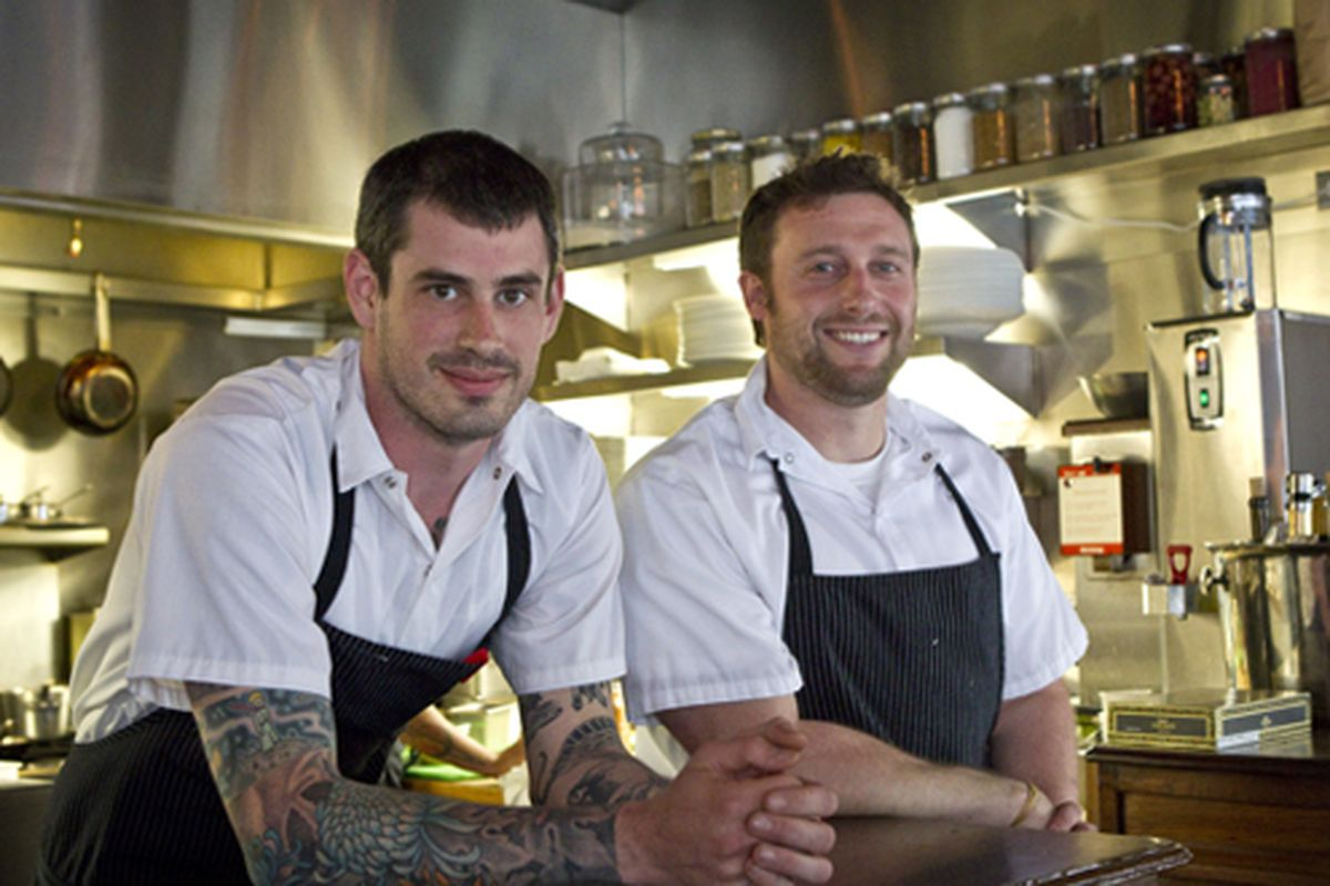 Teague Moriarity (left) and Matt McNamara, chef-owners of Sons & Daughters.