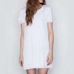 "<strong>T by Alexander Wang</strong> Silk Georgette Over Jersey Dress, <a href=""http://www.shopacrimony.com/products/t-by-alexander-wang-womens-silk-georgette-over-jersey-dress"">$315</a> at Acrimony"