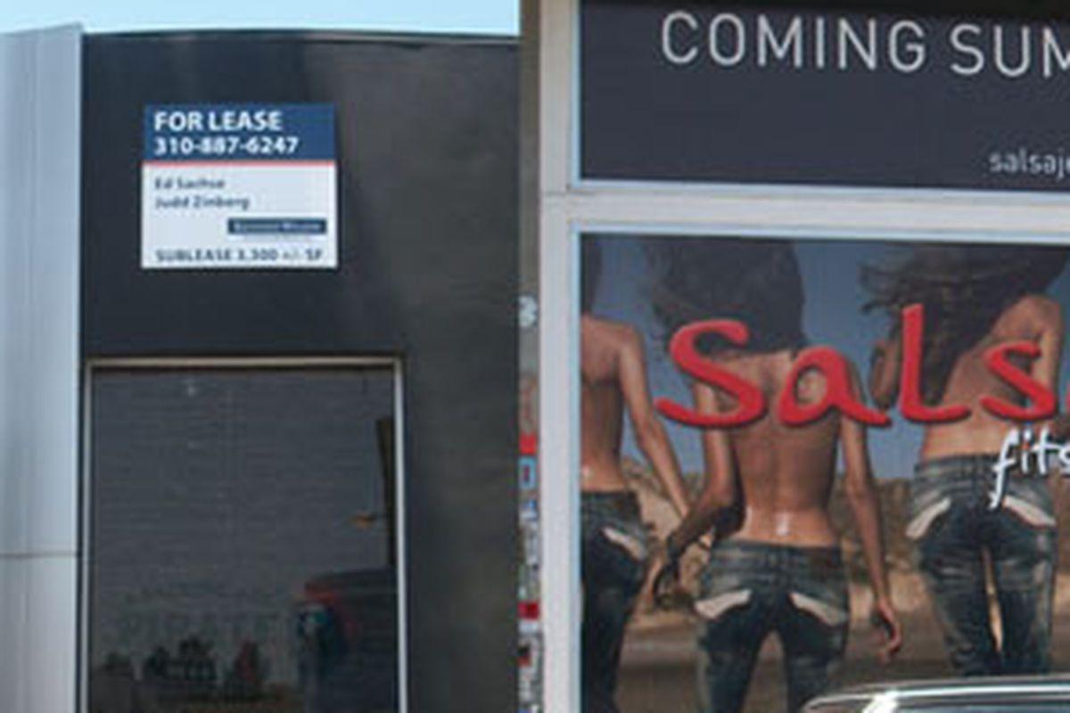 BAPE photo taken on Sunday; Salsa Jeans facade from June photo.