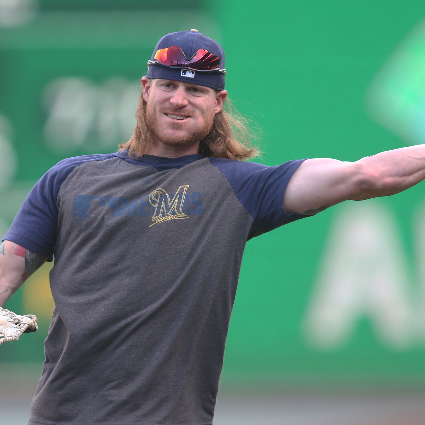 The 28-year old son of father (?) and mother(?) Ben Gamel in 2020 photo. Ben Gamel earned a million dollar salary - leaving the net worth at million in 2020