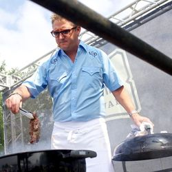 Tim Love leads his people in the way of the grill. // photo by Patrick Michels