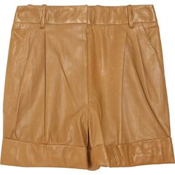 """<a href=""""http://www.theoutnet.com/product/253948"""">3.1 Phillip Lim Leather shorts</a>, $112.50 (were $750)"""